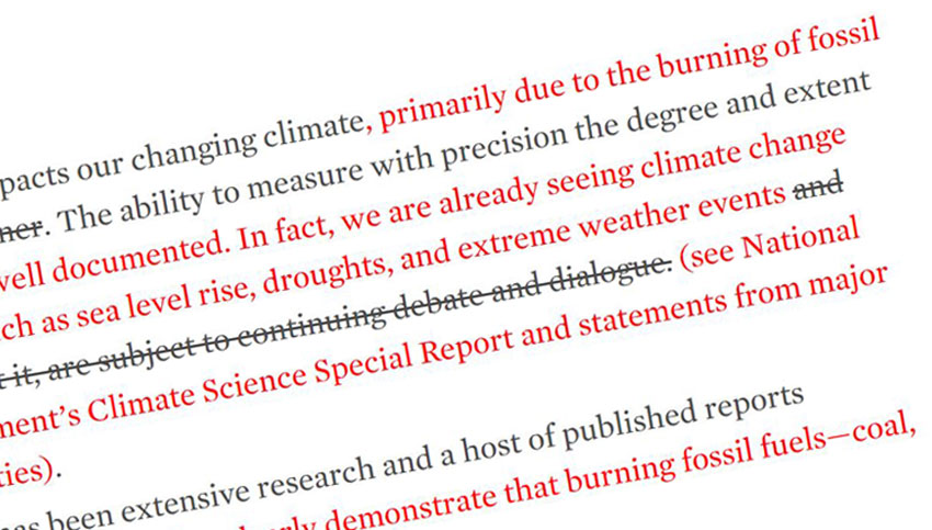 UCS Blog: Dear EPA Staff, We Fixed Your Climate Change Talking Points