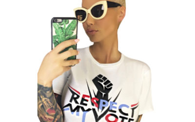 PRESS RELEASE: Amber Rose Joins 'Respect My Vote!' and Gives Her Top 10 Reasons We Should Vote in the Midterm Elections