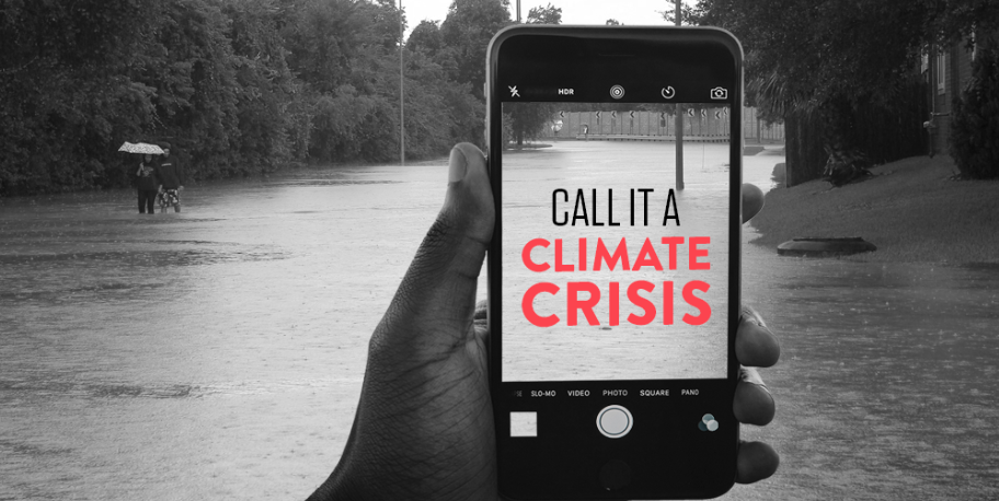 TAKE ACTION: demand news media call climate change what it is: a crisis.