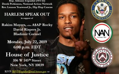 Families, Members of U.S. Congress, and National Civil Rights Leaders to Demand Justice for A$AP Rocky and Team Members