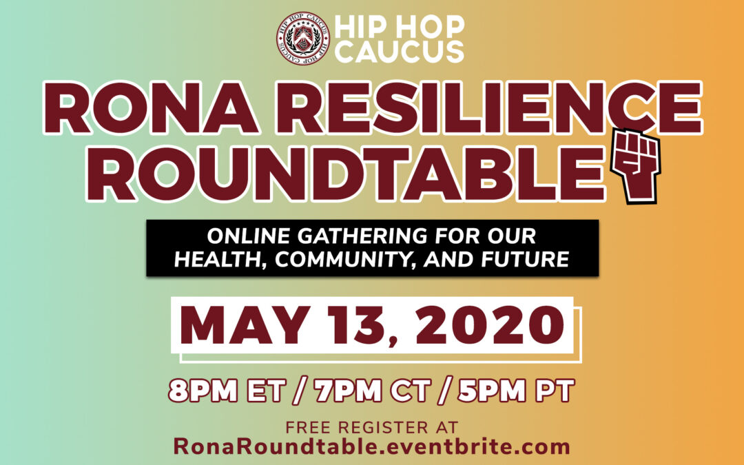 RSVP: Rona Resilience Roundtable – Wednesday, May 13, 2020