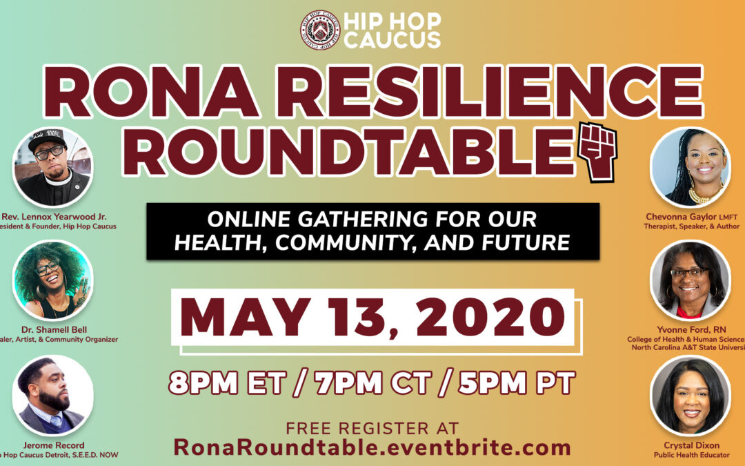 WATCH: Hip Hop Caucus' Rona Resilience Roundtable